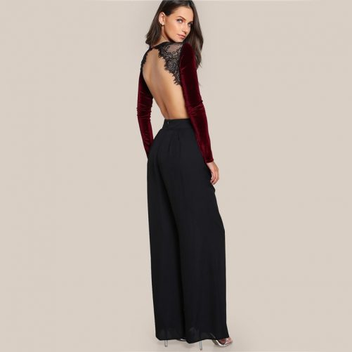 Super Backless Premium Velvet Suit