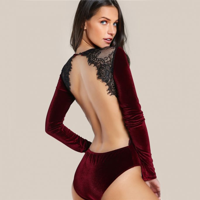 Super Backless Premium Velvet Suit