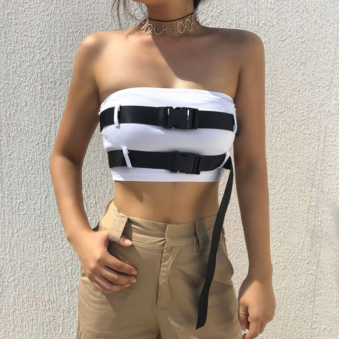 Unique Street Wear: Plain Tube with Belt Strap 1