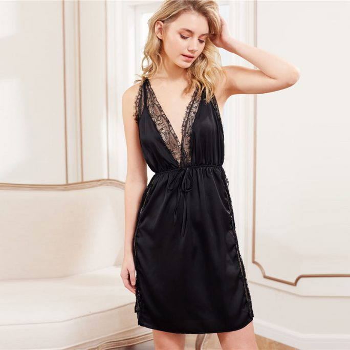 Vintage Style Split Gown