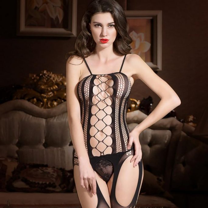Exotic Fishnet Bodystocking