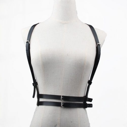 Double Belt Leather Harness 2