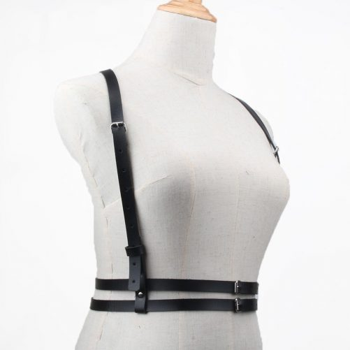 Double Belt Leather Harness 3