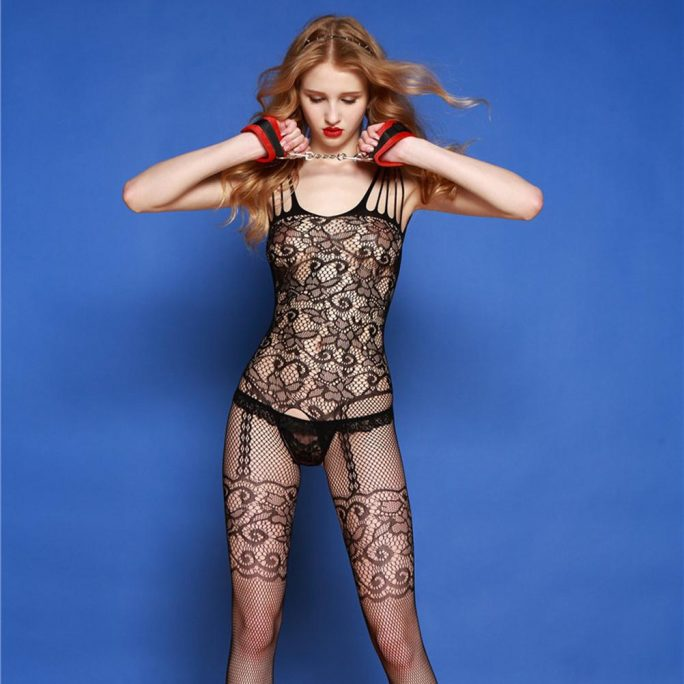 Stretchy Fishnet Sheer Lingerie